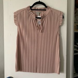 NWT Pink ruffled blouse